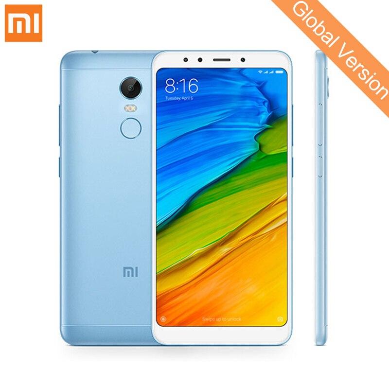 Mondial Version Xiaomi Redmi 5 Plus 3 gb RAM 32 gb ROM Mobile Téléphones 5.99 ''18:9 Plein Écran Snapdragon 625 Octa Core LTE 4g MIUI 9