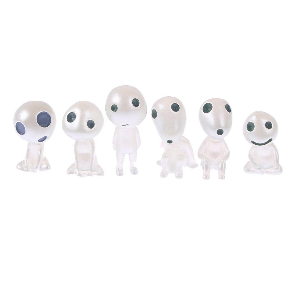5pcs Action anime figure toys elf cartoon kids micro landscape resin accessories