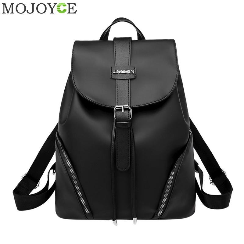 Nylon Backpacks Women Students Girls Rucksack Travel Shoulder Bags Fashion Black School Bags Female Large Rucksacks Mochilas