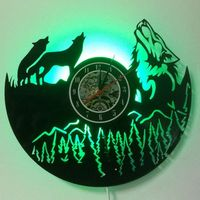 2019 Klok Wolf Group Rubber Record Bell With Telecontrol Global One Substitute Ebayamazon Quick selling Explosion Wall Clock
