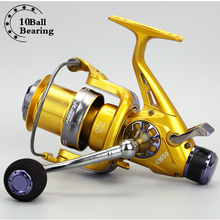 Spinning Fishing Reel KM Series Front and rear Double Drag System Metal Spool Long Casting Carp Fishing Wheel For 5.2:1