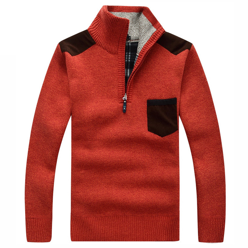 36c894c92d0 Fashion male casual sweater pullovers Men s long sleeve turtleneck jumper  knitted Sweaters