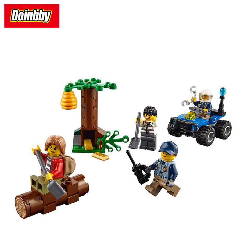 Lepin 02096 Mountain Fugitives City Series Model Building Block Bricks Toys Children Gifts Compatible 60171 compatible lepin city block police dog unit 60045 building bricks bela 10419 policeman toys for children 011