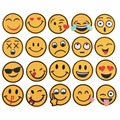 20Pcs/Set Mixed Emoji Iron on Embroidery Patches For Clothing Jeans Jacket Kids Patches Stripes Stickers For Clothes Decoration