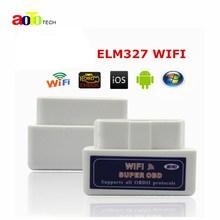 Топ супер мини WIFI ELM327 ELM 327 WIFI V1.5 OBD 2 II автомобиля инструмент диагностики OBD2 сканер Интерфейс Поддержка Android и IOS Системы