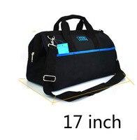 1 Pcs 17 Inch Kit Canvas Multifunctional Portable Single Shoulder Electrician Kit Hardware Repair Kit Manual