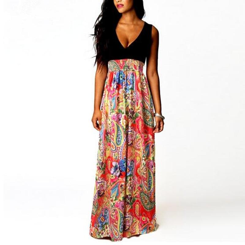 4c99cf7a4ba Adogirl Plus size Summer Beach Dress Women Sleeveless High Waist ...