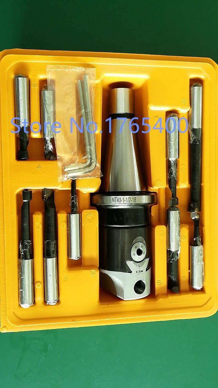 New DIN2080  NT40 M16 Arbor F1 -12 50MM Boring Head And 9pcs Boring Bars ,boring Head Set