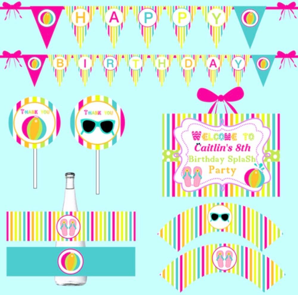 New children baby shower rainbow themed Birthday Bunting HAPPY ...