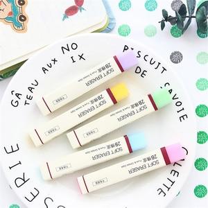 Image 5 - 30 sztuk/partia proste kolor miękkie gumki do ołówka 2B gumka do mazania dla dzieci prezent papiernicze artykuły biurowe narzędzia szkolne borracha F887
