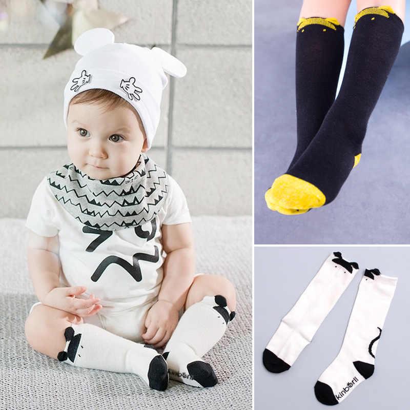 Baby Pasgeboren Peuter Knie Hoge Mickey baby sokken Anti-slip Jongens Meisjes Leuke Beenwarmers Voor baby Sokken SZ0046