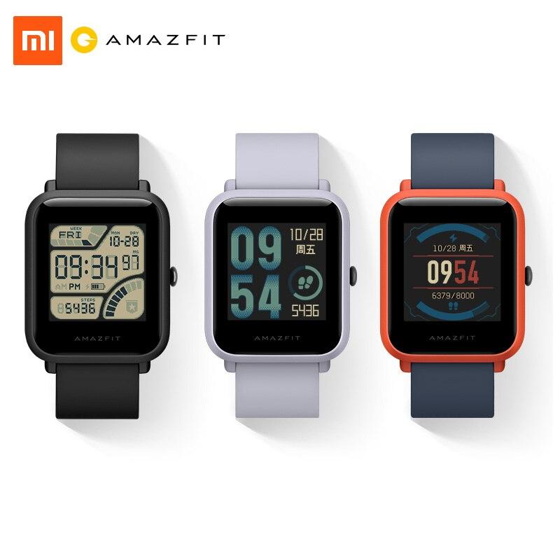 Xiaomi Amazfit Bip Montre Smart Watch Édition Jeunesse Lite 32g ultra-léger Bäro IP68 Étanche GPS Tracker Boussole de Remise En Forme pour hommes femmes