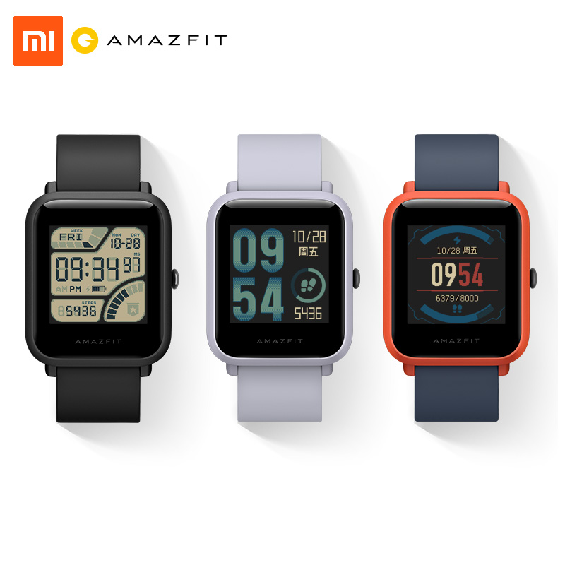 Xiaomi Amazfit Bip Relógio Inteligente Edição Juventude Lite 32g ultra-leve Baro IP68 À Prova D' Água Rastreador GPS Bússola de Fitness para mulheres dos homens
