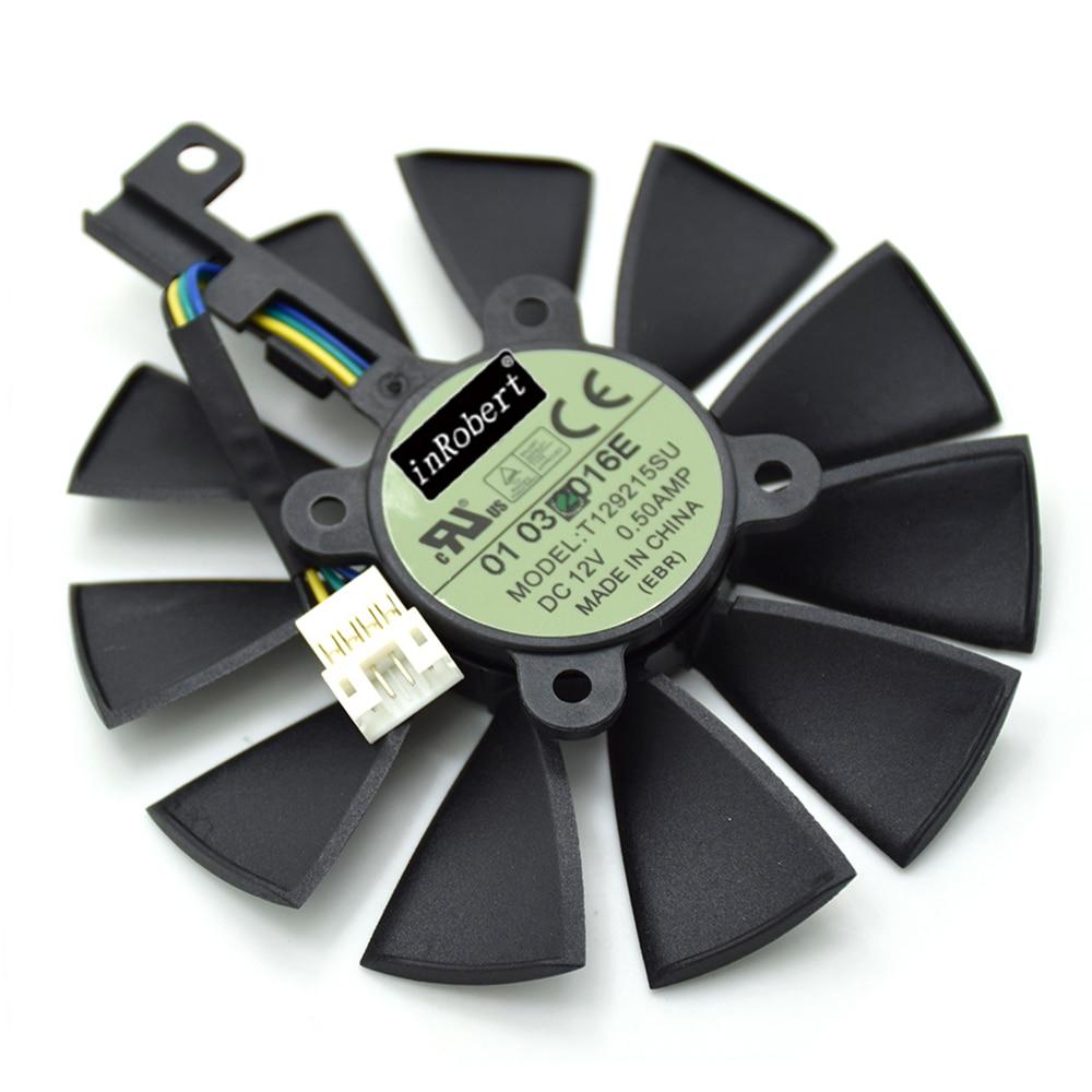 Nueva T129215SU 87mm 4Pin ventilador del refrigerador para ASUS Strix R9 390 390X GTX 980Ti 1060 1070 1080 RX VEGA64 tarjeta gráfica ventiladores de refrigeración