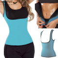 Women Waist Trainer Corsets And Bustiers Sweating Exercise Zipper Neoprene Vest Underbust Corset Body Shapewear Corselet