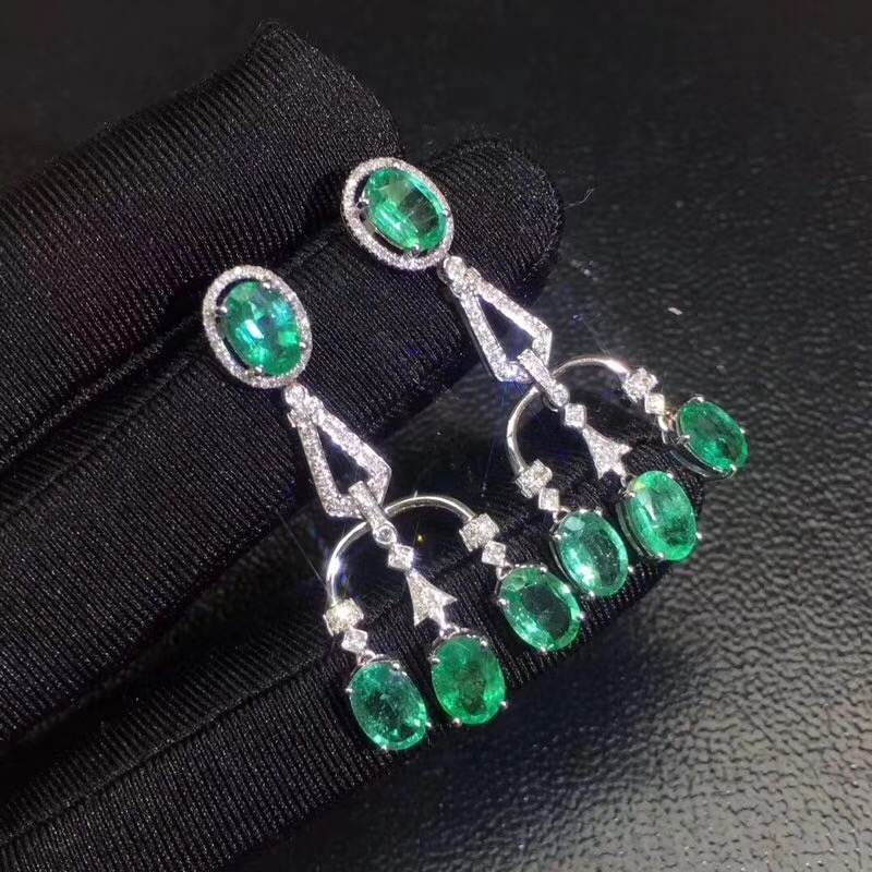 Natural emerald earring Free shipping Natural real emerald 925 sterling silver EarringNatural emerald earring Free shipping Natural real emerald 925 sterling silver Earring