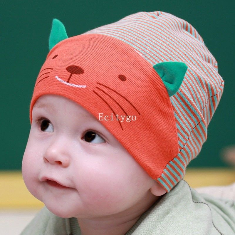 Winter Baby Hat Cute Photography Props Baby Boy Toodler Infant Striped  Stripe Beanies Cotton Baby Cap Beanie Hat Y1-in Hats   Caps from Mother    Kids on ... bffb11f73f4