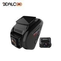 Dealcoo Автомобильный dvr камера с двумя объективами Dash Cam 4 к gps регистратор Автомобильный тире камера с камерой заднего вида Автомобильная каме
