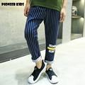 Pioneer Kids 2016 Real boys causal pants fashion style cotton kids casual pants full length trendy elastic waist