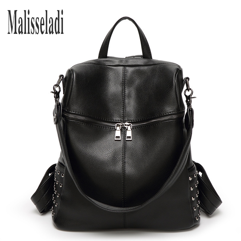 New Arrival Women Backpack Pu Leather Ladies Travel Bags Preppy Style Schoolbags For Teenage Girls High Quality Shoulder Bag SAC high quality pu leather backpack women large capacity travel portable shoulder bags girl preppy style school bag new backpacks