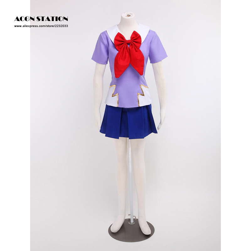 2018 Customize for adults and kid FreeShipping The Future Diary Gasai Yuno Purple Cosplay Costume For Halloween Musical Party