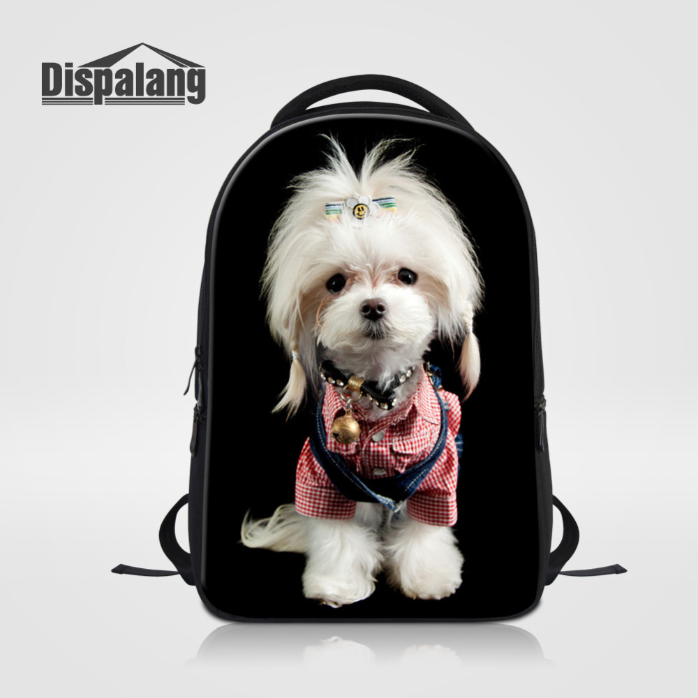 Dispalang Men Women Backpacks Cute Dog Cat Print School Bags for Teenagers Large Capacity Laptop Backpack  Casual Travel bag hot casual travel men s backpacks cute pet dog printing backpack for men large capacity laptop canvas rucksack mochila escolar