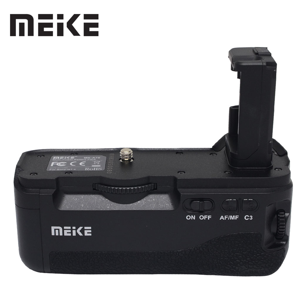 Mcoplus BG-<font><b>A7II</b></font> Vertical Battery Grip Holder for <font><b>Sony</b></font> <font><b>A7II</b></font> A7S2 A7S A7M2 A7R2 A7R II as VG-C2EM <font><b>Camera</b></font> Meike MK-<font><b>A7II</b></font> image