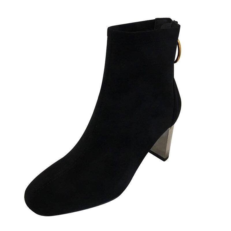 0e269229 Y Botines 1 E Grueso Moda foco Bulbo Alto De Otoño Coreanas 2018 2 Invierno Tacón  Botas Negro Elegancia Mujeres Temperamento Nuevas Zapatos RUxCznw7qz