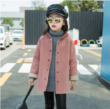 New Autumn Winter Kid s Fashion Casual Jackets Girls Cashmere Long Sleeve Round neck Coats Children