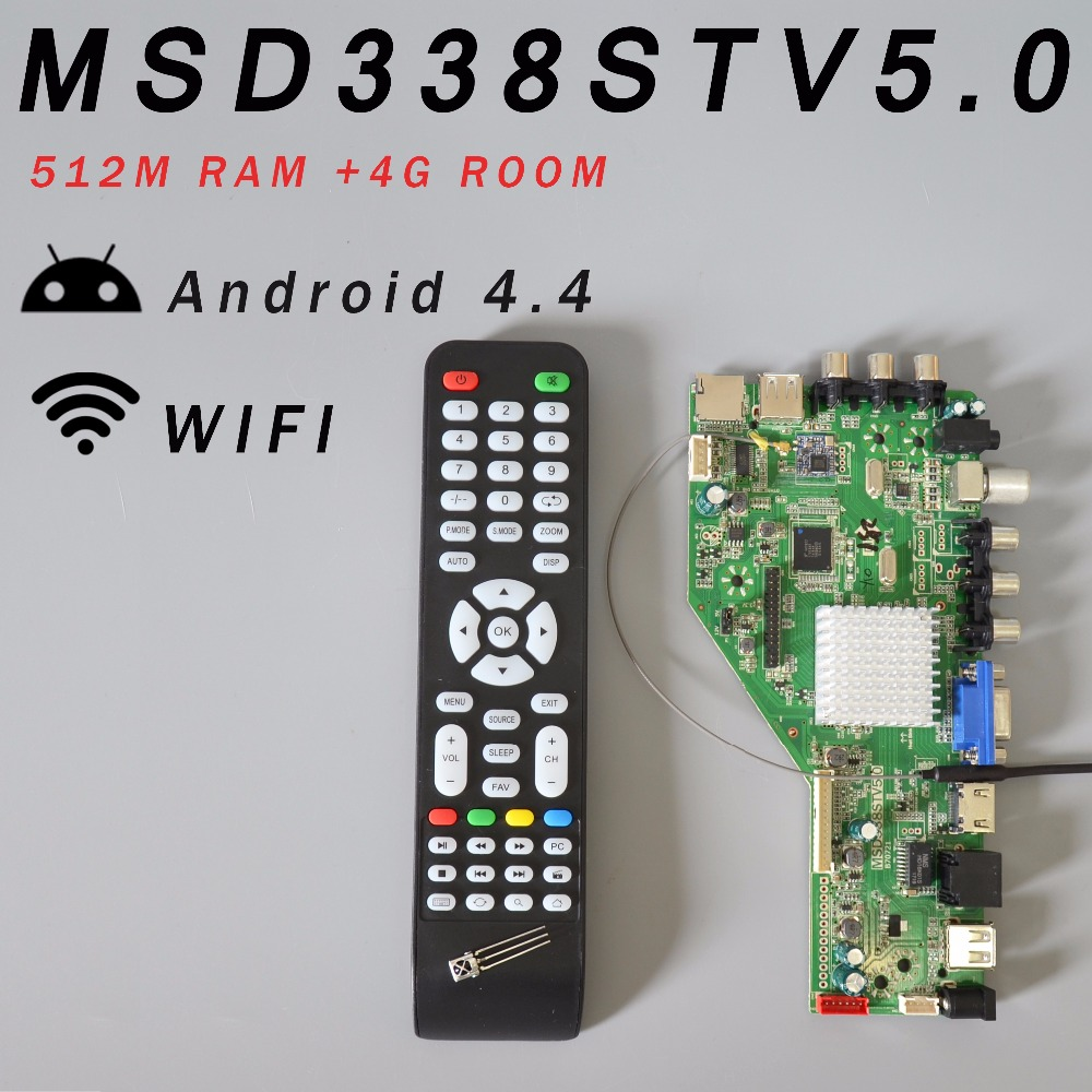 RAM 512M & 4G Storage MSD338STV5.0 Intelligent Wireless Network TV Driver Board Universal Andrews LCD Motherboard 1024M Android