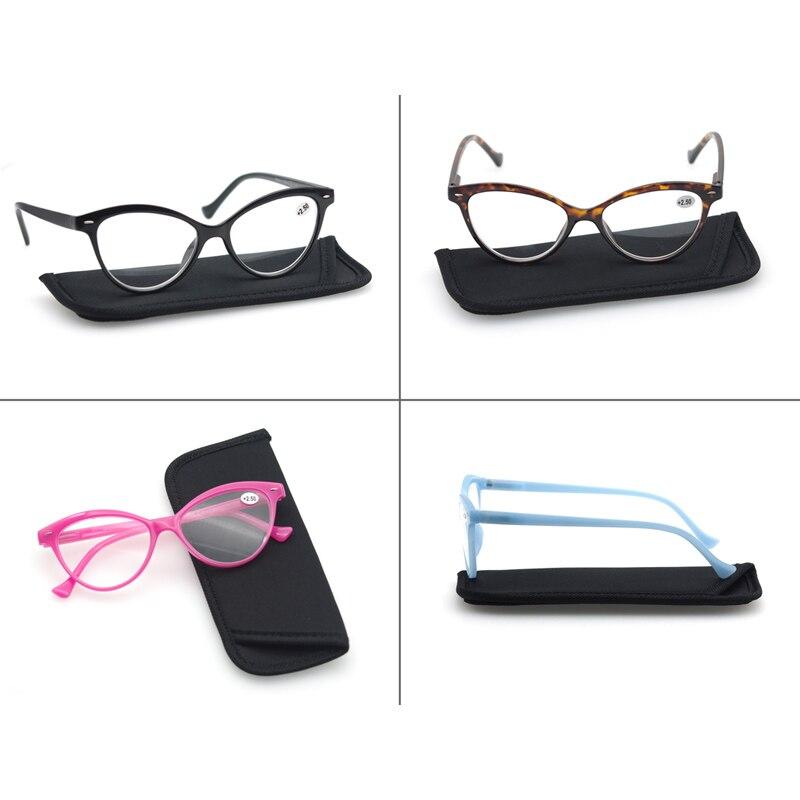 Reading Glasses Women Cat Eye Vintage Fashion Eyeglass Cateye Retro Clear Lens Ladies Ultralight Diopter 1.25 1.5 1.75 2.25 2.5