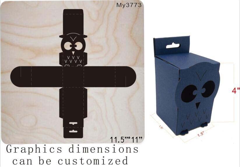 Chouette boîte édition de découpe et matrices en bois fit//boîte de Scrabooking muyu