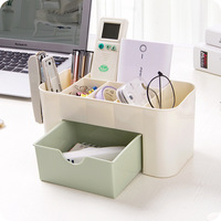 Multi Functional Jewelry Box Plastic Cosmetic Storage Box Desk Sundries Storage Container Makeup Organizer With Small