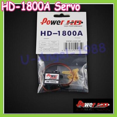 4set/lot 100% Orginal Power HD-1800A High Speed Sub-Micro Analog Servo 8g+Free Shipping