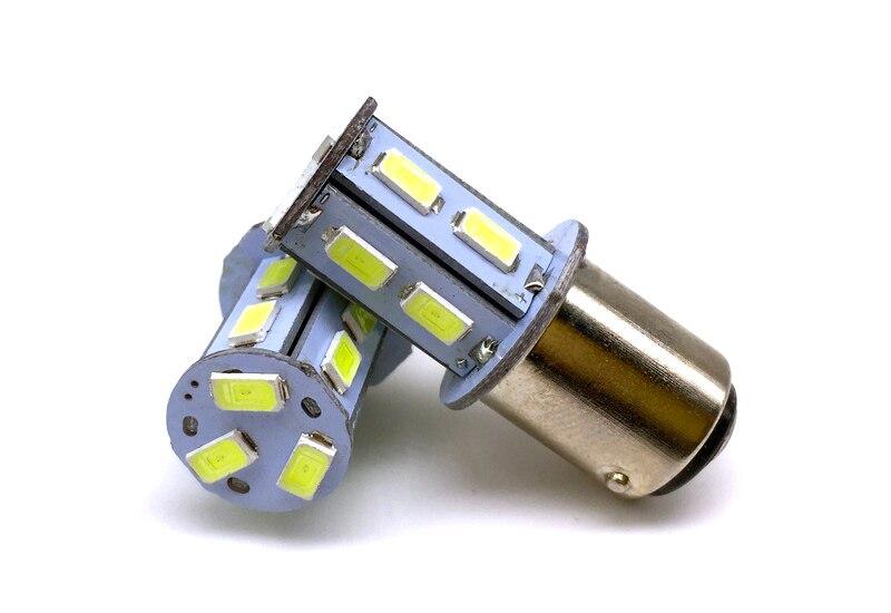 100X 24V S25 1157 BAY15D 1156 BA15S 13 SMD 5630 LED 5730 LED 13SMD P21W P21