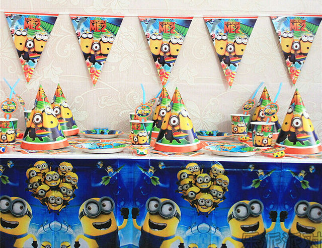 new 84pcs despicable me minion themed party bits birthday party decorations kids set baby shower supplies