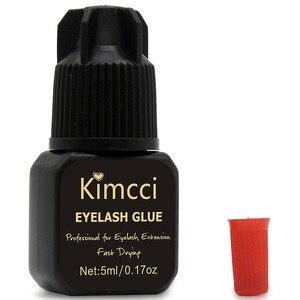 Image 3 - Kimcci 5ml Eyelash Extension Glue 1 3 Seconds Fast Drying Eyelashes Glue Pro Lash Glue Black Adhesive Retention Long Last