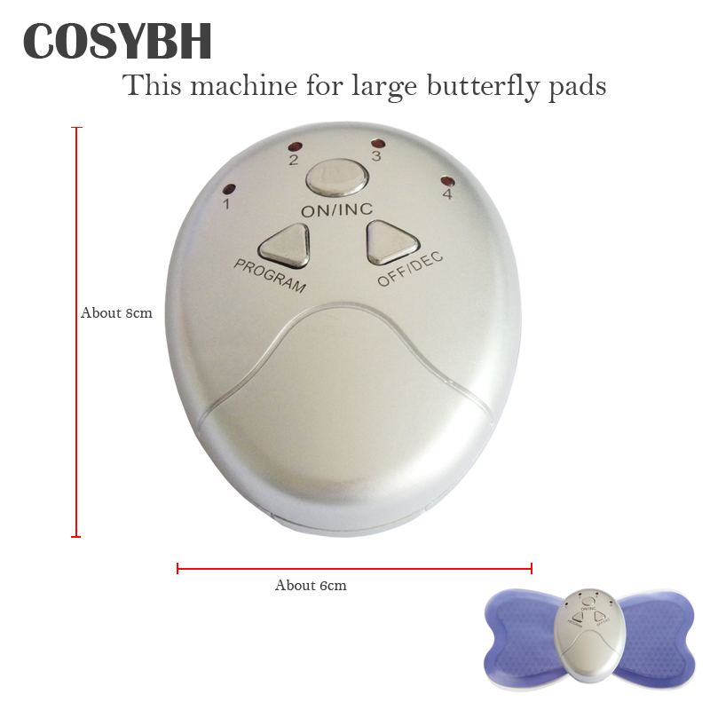 Large Machine For Butterfly Full Body Massager Pads Pulse Muscle Relax Slimming Electric Massager quality guaranteed new silver color large lcd screen mini electric massager digital pulse therapy muscle full body massager