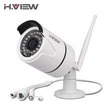 H. vue caméra ip wi-fi extérieure 720 p 1080 p sans fil de sécurité cctv caméras soutien tf carte d'enregistrement iphone android accès à distance
