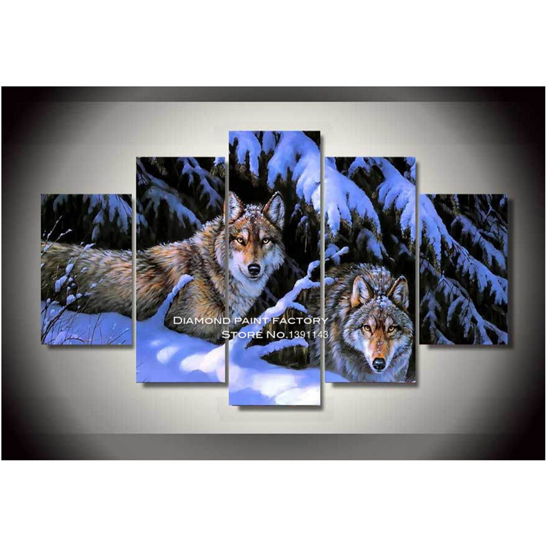 DPF 5d Diamond Embroidery painting cross stitch Snow Wolf full Square Resinstone crafts Room Decor mosaic decor pattern pictureDPF 5d Diamond Embroidery painting cross stitch Snow Wolf full Square Resinstone crafts Room Decor mosaic decor pattern picture