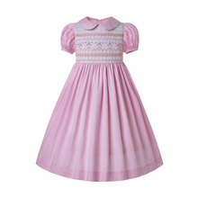 Pettigirl Summer Inexpensive Smocked Dress For Toddlers Smocked Bubble Baby smocking frocks Pink Girl Costumes G-DMGD204-A290(China)