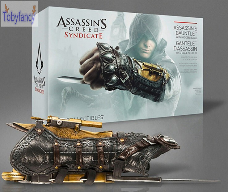 Assassin's Creed Action Figures Weapon Syndicate Gauntlet With Hidden Blace 1:1 PVC Anime Game Assassin Creed Toys Tobyfancy корбиран э assassin s creed цикл i анкх исиды