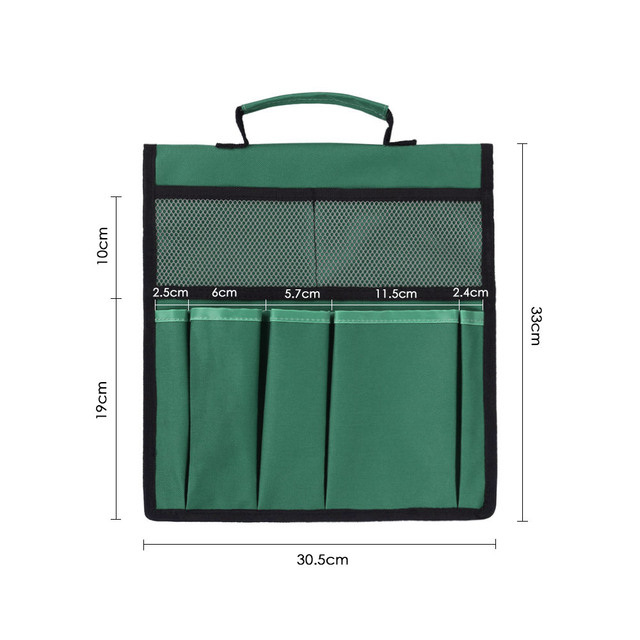 Foldable Stool Tool Storage Bag 600D Oxford Fabric Garden Tool Bag Tool Pouch For Kneeler Bench Folding Bag Stool Side Pocket 3