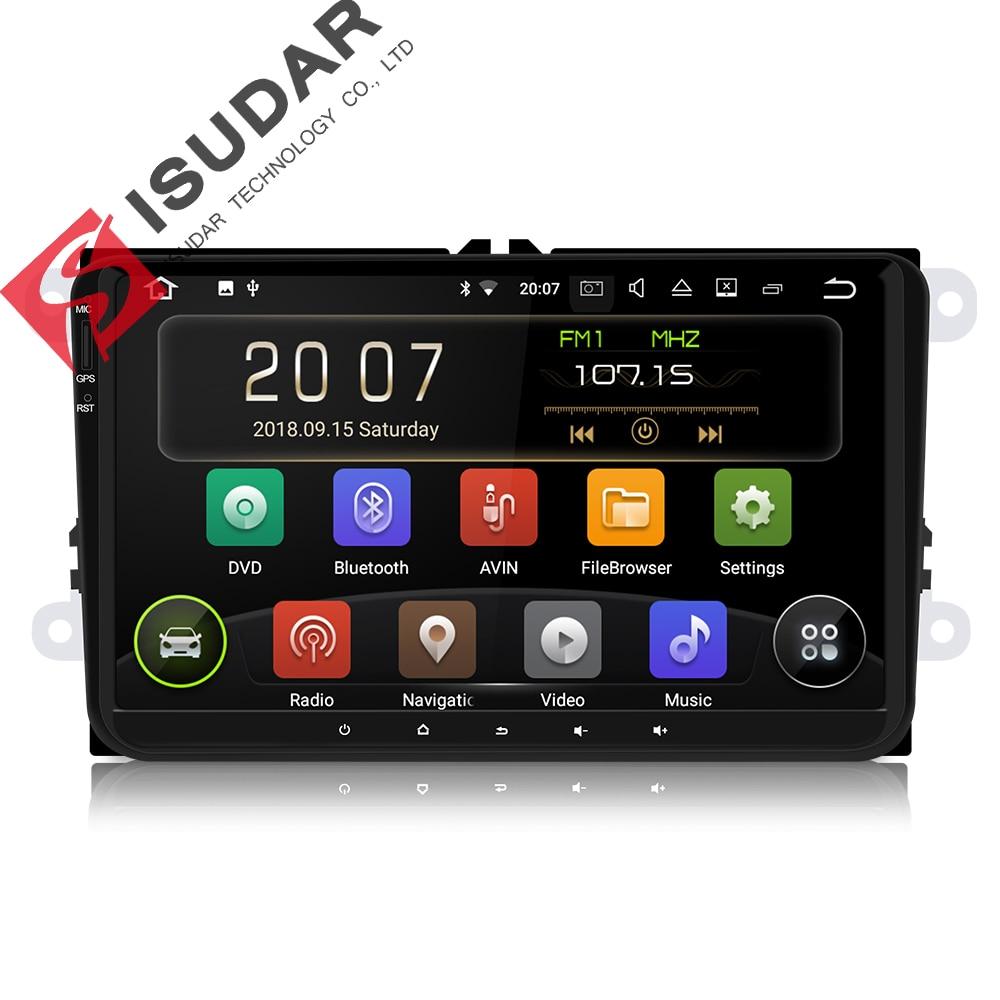 Isudar coche reproductor Multimedia 1 Din Android 8.1.0 DVD Automotivo para VW/Volkswagen/POLO/PASSAT Golf/ /Skoda/Octavia/asiento GPS Radio