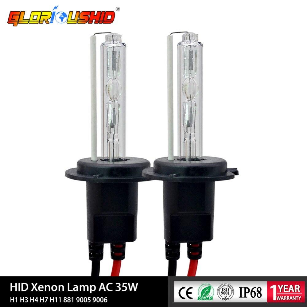 2x 200W HID Xenon Light Bulbs Lamp Car Headlight H1 H4 H7 H11 9006 6000K White
