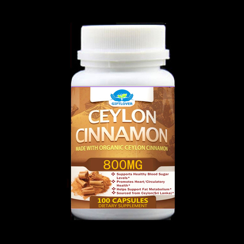 Pure Ceylon Cinnamon Extract Control Blood Sugar, Promotes Heart/Circulatory Function,Supports Fat Metabolism - 100pcs/bottle 100pcs bottle ahcc supplement powerful supports immune health liver function maintains natural killer cell activity