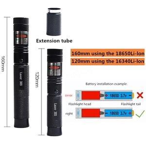 Image 5 - 녹색 레이저 포인터 높은 전원 532nm 303 녹색 lazer 포인터 펜 충전식 18650 배터리와 조정 가능한 레코딩 일치