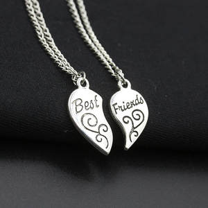 xinshiqin Friendship Heart Pendent Necklaces Best Friends