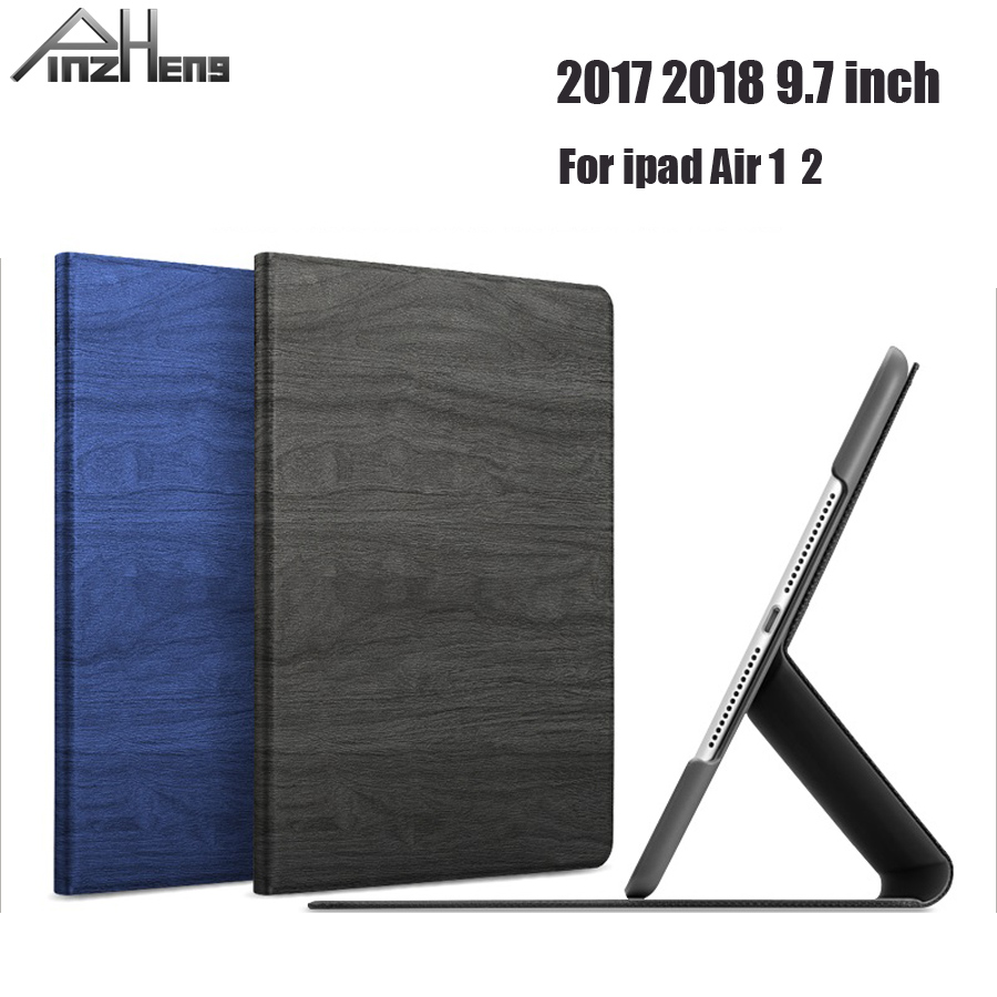 2018 PINZHENG Ultra Slim Case For iPad Air 2 Air 1 Case PU Leather Flip Stand Cover For iPad 2018 2017 9.7 inch Cover Coque universal pu leather case for 9 7 inch 10 inch 10 1 inch tablet pc stand cover for ipad 2 3 4 air 2 for samsung lenovo tablets