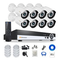 8CH HD 1080P 2MP P2P POE NVR CCTV System IP Camera Security Home Video Record Surveillance